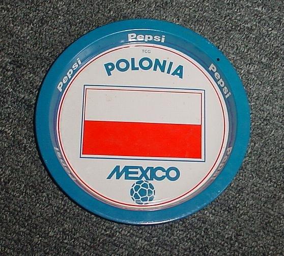 Mexico 86 Pepsi Cola Soccer World cup  tip tray Poland