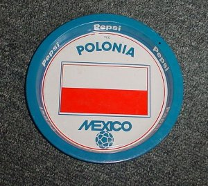Mexico 86 Pepsi Cola Soccer World cup  tip tray Poland