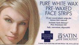 Satin Smooth Pure White Pre-Waxed Face Strips