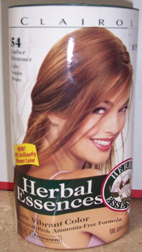"""Clairol Herbal Essence Pure Vibrant Permanent Hair Color """"Amber Shimmer"""""""