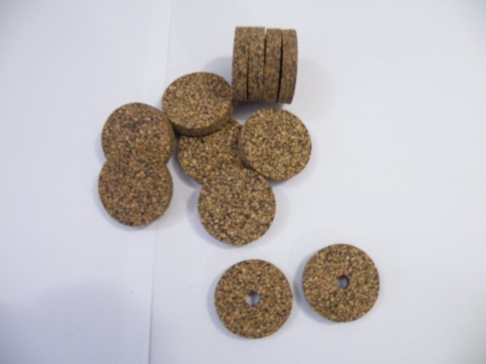 "RUBBERIZED CORK RINGS 11/2""X1/4"" BLACK"