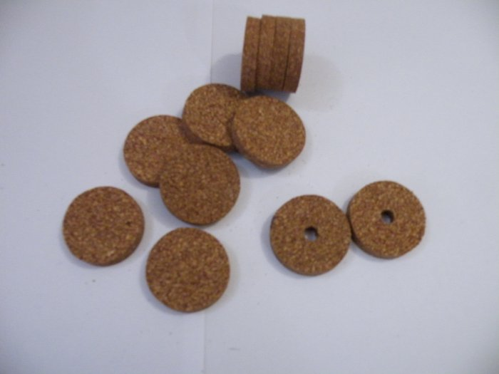"RUBBERIZED CORK RINGS 11/2""X1/4"" RED"