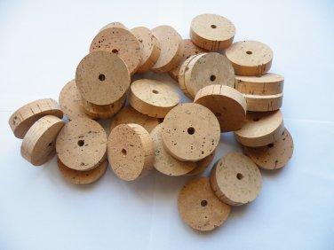 "30 Cork rings 2""x1/2"" quality AA bore 1/4"""
