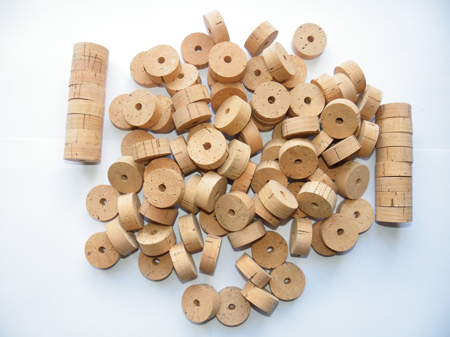 """100 CORK RINGS 11/4""""X1/2"""" BORE 1/4"""" OVERSTOCK FLOR - 1.25"""