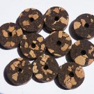 "10 BURL CORK RINGS 11/4""X1/2"" BLACK/WHITE  BORE 1/4"""