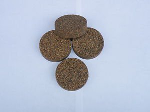 "4 RUBBERIZED CORK RINGS 1 3/4""X1/2"" NO  BORE BLACK"