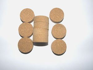 "10 CORK RINGS RUBBERIZED BROWN 1 1/4"" X 1/2""  SOLID NEW!!"