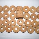 "30 CORK RINGS 1 3/4""X1/2"" GRADE B  BORE 5/8"" - FREE SHIPP WORLWIDE"