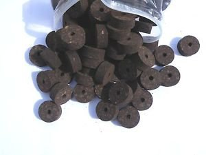 "10 BURL CORK RINGS 11/4""X1/2"" BURNT  BORE 1/4"""