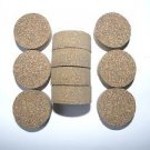 "10 RUBBERIZED CORK RINGS 11/4""X1/2"" NO BORE BLACK FINE GRAIN"