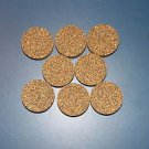 "8 RUBBERIZED CORK RINGS 11/2""X1/2"" NO  BORE BLACK"