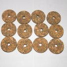 "12 BURL CORK RINGS 11/4""X1/4""  BROWN  BORE 1/4"" - NEW!!!!!"