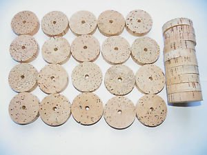 "30 CORK RINGS 2""X1/2"" GRADE B  BORE 1/4"" - VERY RARE SIZE"