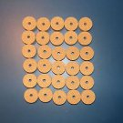 "30 AGGLOMERATED  CORK RINGS 11/4""X1/2"" FINE GRAIN  BORE 1/4"""