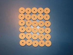 """30 AGGLOMERATED  CORK RINGS 11/4""""X1/2"""" FINE GRAIN  BORE 1/4"""""""