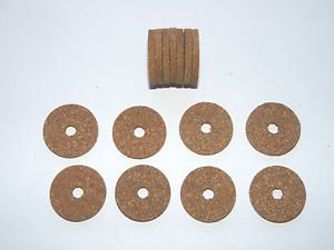 "15 RUBBERIZED CORK RINGS 1 1/4""X1/8"" BORE 1/4"" RED GRAIN -NEW !!!!!!!"
