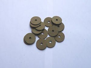 "15 RUBBERIZED CORK RINGS 1 1/4""X1/8"" BORE 1/4"" GREEN -NEW !!!!!!! CR"