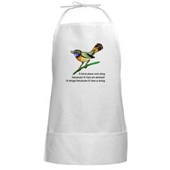 Songbird Long White Grill Cooking Apron
