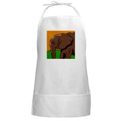 Elephant BBQ White Long Grill Cook Apron