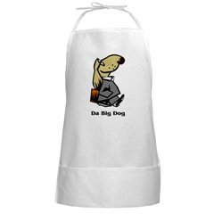 Big Dog Long White Chef BBQ Barbque Grilling Apron
