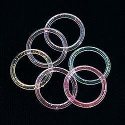 144 Glitter Jelly Rings