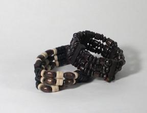 Elastic wood handmade bracelets.