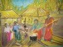 Village Scene Bamayos cooking inshima.