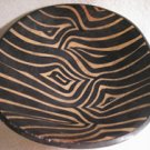 Hand painted, hand carved wood bowl.
