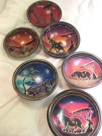 Hand painted soapstone bowls
