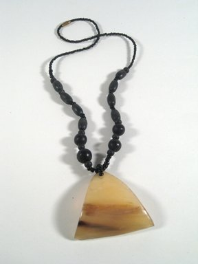 """18"""" necklace with hand carved mixed mukwa wood bead necklace."""