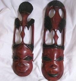 Hand carved African masks