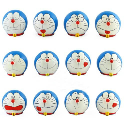 Different Expression Doraemon Faces (Set of 12)