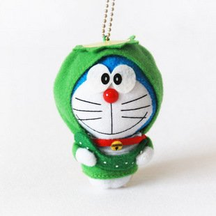 Doraemon/DingDang Cosplay Green Tortoise Plush Toy Keychain