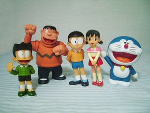 8� Doraemon Family Figure Collection (Set of 5)