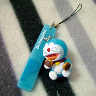 Doraemon/DingDang Dorayaki Flashing Light Cell Phone Charm