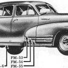 Chevrolet 1942-48 L/Side Rocker Panel Moulding NOS #3681635