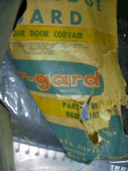 Corvair 1960-64 NOS Door Edge Guards  988105 Four Door Car