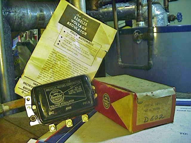Nash Rambler 48-55  Regulator, 3203656, 1118302  D602 in the Factory Original 50s Rambler Box !
