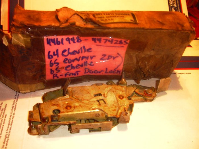 Malibu, GTO, 442, Skylark,  Corvair, 1965-69 NOS GM L/Side Door Lock, 4474285