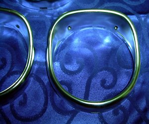 1965 Chevrolet three of four NOS Headlamp Bezels  3855653 3855654 3851258