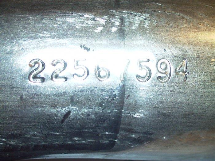 22567594 Oldsmobile Acheiva Pontiac Grand Am Intermediate Exhaust Pipe