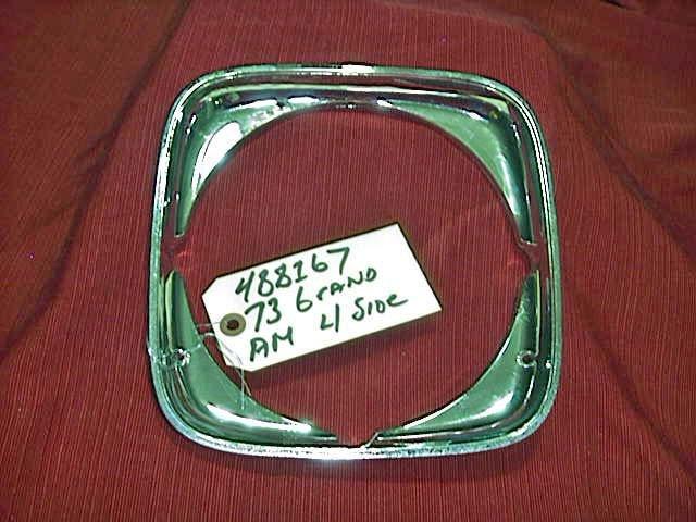 1973 Pontiac Grand Am NOS GM Headlamp, Bezel,  488167