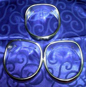 1965 Chevrolet 3855653 3855654 3851258 NOS Headlamp Bezels