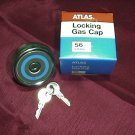 NOS Popular Chrome Locking Gas Cap, Fits Many American and Foreign Models