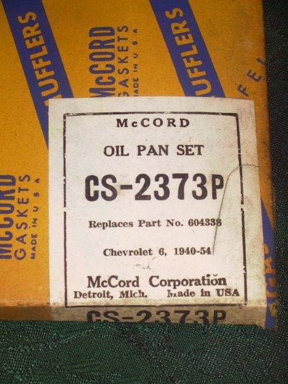 1940-54 Chevrolet Straight Six engine.Oil Pan Gasket GM #604338.