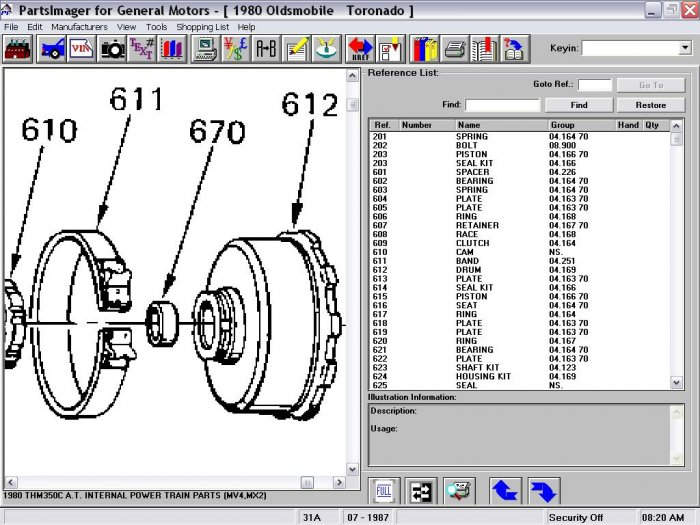 6261132 NOS TH-350/Th-200 Transmission Band