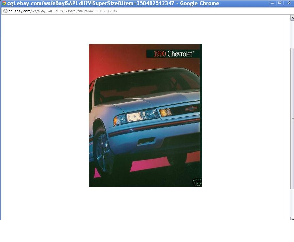 1990 Chevrolet Full Line 100-Page Sales Brochure