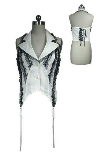 Elegant Gothic Lolita Visual Kei Punk Corset Halter Vest Top