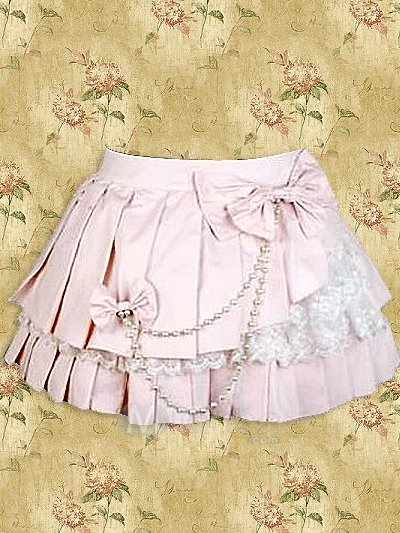 Pink Lace Sweet Lolita Pleated Skirt