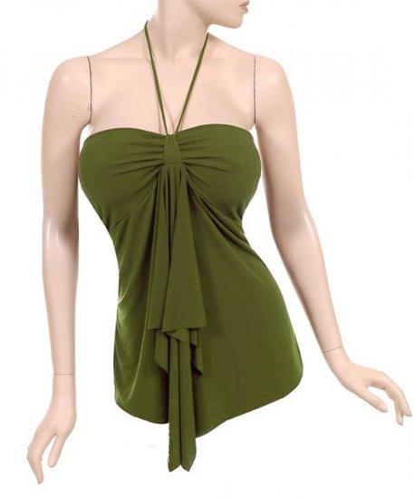 Plus Size Green String Halter Top